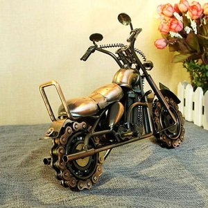 New, Europe oversized domineering chain model motorcycle crafts decorative gift M94 two color available electroplating iron