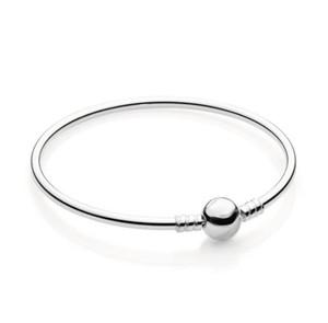 Sterling Silver Bangle femmes avec la boîte originale de mode Bracelets Hommes Logo estampiller Perles Pan Bracelet Charms W256