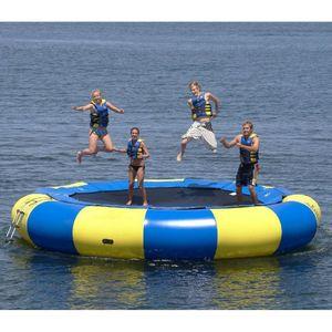 Kaliteli su trambolin 0.6mm PVC şişme trambolin açık oyun yaz su oyuncak su parkı