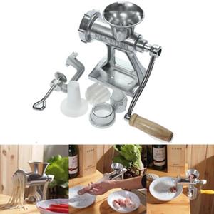 Operado de la manivela máquina de picar carne Picadora de servicio pesado de hierro fundido Pasta Manual fabricante de herramienta de la cocina Decoración