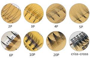 جديدة 3 صفوف 0.07mm سمك 5 الجذر / العنقودية الكلاسيكية 3D الرموش الرموش الفردية التمديد