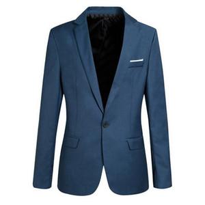 Wedding Dress Coat Men Slim Fit Social Blazer Jacket Spring Fashion Solid Mens Suit Jacket Casual Business Male Suit Coat 2020