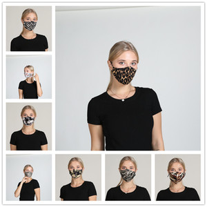Leopard Zebra Print Face Mask Designer Mask Washable Dustproof Riding Cycling Men And Women Outdoor Sports Mouth Face Mask 100pcs