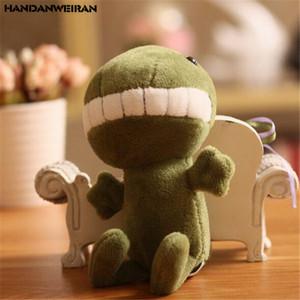 1PCS mini diente grande dinosaurio juguetes de peluche colgante pequeño par lindo de los dinosaurios de peluche de juguete de regalo de la venta caliente 12CM HANDANWEIRAN