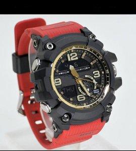 Analógico tendencia de la moda reloj de la aptitud del choque relojes deportivos cronógrafo masculino Digital Summer LED de pulsera Reloj de pulsera Brújula función de reloj