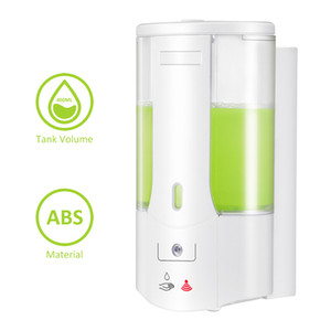 400ml Automatic Soap Dispenser Wall-Mounted Sensor Soap Dispenser Hand Sanitizer Shampoo Container For hotel Kitchen Bathroom FFA4155-2