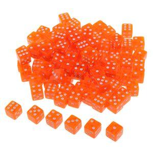 100pcs Dados poliédricos Die D6 15mm para DND RPG MTG Party Game Play Toys