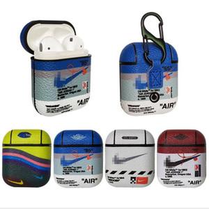 NK auriculares caso para AirPod 1 2 Auricular protector accesorios del teléfono celular 5 colores de moda de marca