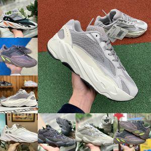 Alta Qualidade 2020 Kanye West Run New Design Sapatas estática 3M reflexiva Sapatos Mauve multi Sólidos Homens Grey Womens Moda Casual Sneakers