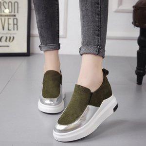 New Mulheres Mujer Moda Thicken Levantado Sole Platform soltas Casual preguiçoso Plimsolls Zapatos Mocassim Shoes