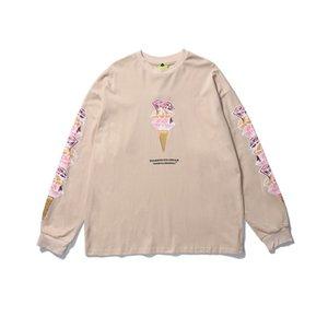 Impreso Hombres Mujeres camiseta de manga larga de cuello redondo del inconformista camiseta de algodón Tee Shirts