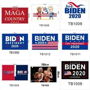 2020 JOE BIDEN Flag 90*150cm 14 Styles Polyester American Presidential Election Garden Banner Flags USA Donald Trump Flags OOA8048 fast DHL