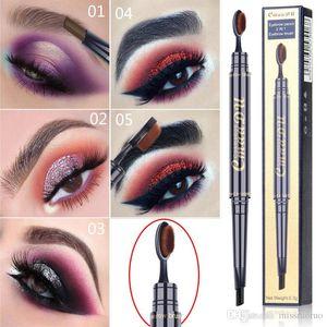 CmaaDu Eyebrow Pencil With Brush Double Head Eyebrow Pen Waterproof Long Lasting Pigments Eyebrow Tattoo Pen Eye Makeup