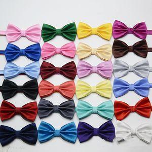 25 Renkler Erkekler Bow Tie Moda Polyester Jakarlı Kravat İnce Doku İngiliz Stil Beyler Parti Dekorasyon Aksesuarları TTA1976-4