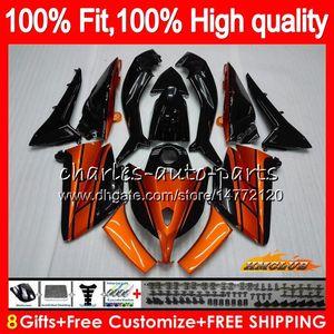 OEM Per YAMAHA TMAX500 max500 nero arancione TMAX500 TMAX MAX 500 83HC84 TMAX500 2012 2013 2014 2015 T max500 12 13 14 15 carenatura dell'iniezione