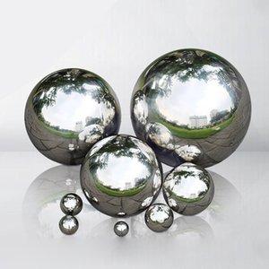 1Pc High Brightness Shine Sphere Stainless Steel Mirror Sphere Hollow Ball Home Garden Ornament Decoration 1.9 3.8 5.1 8 10cm
