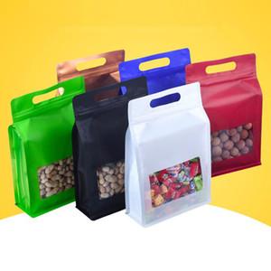 Bolsas de colores Capacidad de Big Food prueba de humedad con ventana se levanta la bolsa de empaquetado para la Merienda Galletas de la hornada XD23357