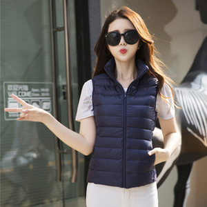 BONJEAN Artı Boyutu bayan yelek Sonbahar Kış Coat Kadınlar Bayanlar Jile Feminino aşağı yelek giyim Kadın Pamuk Yelek Ceket