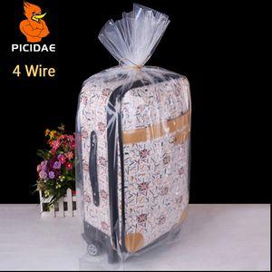 4 fils 12x17cm PE emballage givré plastique transparent sac de rangement poche ouverte plat jouet étanche poupée nourriture jouet poupée Frozen cosmétiques doublure