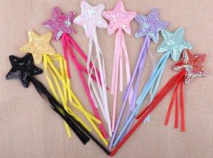 Halloween Kindertag Pailletten Zauberstab Pentagramm Party Maskerade Handschellen Engelsstab Zauberstab Star Fairy Stick GESCHENKE