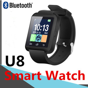 U8 Bluetooth Smart watch Wrist Watches Touch Screen For Samsung Android Phone Sleeping Monitor Dial Call With Retail Package SIM Card DHL