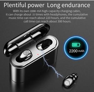 Micro TWS X8 Verdadeiros sem fio Earbuds Fones de Bluetooth Mini TWS Headfrees impermeável com 2200mAh Power Bank For All Telefone