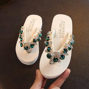 Girls Ayakkabı Sliper Yaz 2020 Bohemia Çiçek Plaj Sandalet Kama Platformu Tangalar Terlik Terlikler zapatos de mujer