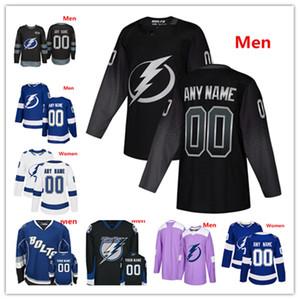 Custom Tampa Bay Lightning Alternate Jersey Nikita Kucherov Steven Stamkos Victor Hedman Brayden Point 88 Vasilevskiy Jerseys