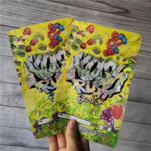 Kush de Rush exóticas bolsas de cierre de cremallera con cierre a prueba de niños para la frescura de flores bolsas de embalaje de mylar Lucky KUSH RUSH bolsas de mylar