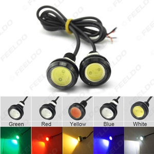 2pcs Waterproof 4W 23 milímetros Lens Ultra-fino Car LED Eagle Eye DRL Luz backup do final Brake lâmpada traseira Luz 7 Cores # 1073