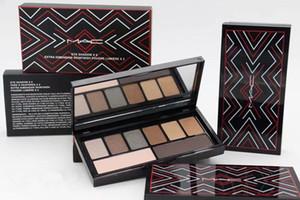 Professionelle Make-up Lidschatten M @ C Marke 6 Farben Lidschatten-Palette + 2 Farbe zusätzliche Dimension Braue Make-up-Paletten frei VERSANDDHL