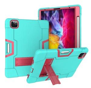 Für iPad Pro 9.7 Defender Wasserdicht Schwerlast- Doppel-Farben-Silikon-Rüstung Tablet PC Kasten Halter-rückseitige Abdeckung