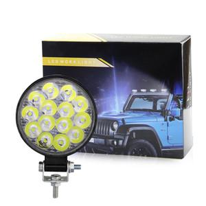 Cip Araba Kamyon Traktör Motosiklet Botu için 42W 48W LED Taşkın Işık Offroad Sürüş Çalışma Lambası Yardımcı Sis Lambaları