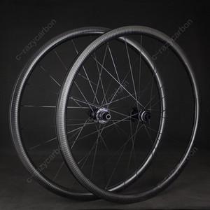الشحن مجانا! 32MM ايرو الدمل طريق قرص الفرامل العجلات الحصى Cyclecross الكربون الدمل عجلات لايحتاج / أنبوبي DT Novatec محاور سنتر لوك