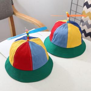 Creative Summer Funny Snapback Cap For Child Multicolor Propeller Baseball Hat Outdoor Hat Detachable