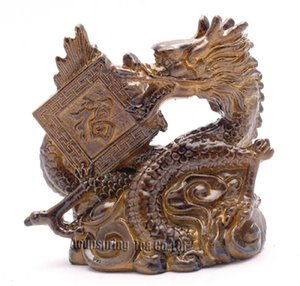 Allochroic Mascot,Yellow Lucky Dragon,Fengshui,Best Gifts,Novel present,arts&Crafts,Ornament will change color, tea pet,S1175D