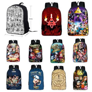 Student Gravity Falls Schoolbag Backpack Kids Anime Print College Polyester Bookbag Shoulderbag Travel Laptop Rucksack Handbag Satchel Bag