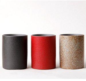 Керамика чайная чашка красный черный белый цвета фарфор Кунг Фу чайная чашка 75 мл чайная чаша керамическая чашка мастер чашка чайная посуда наборы