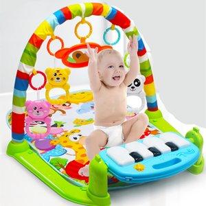 Mat jogar bebê Crianças Rug Educational puzzle tapete com teclado de piano e bonito Playmat animal bebê Ginásio Crawling mat Brinquedos