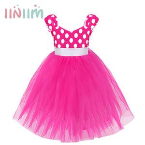 Iiniim baby mädchen prinzessin tupfen ballkleid dance geburtstag party kinder weihnachten kostüme cosplay fancy dress up j190514