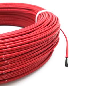 100meter 17ohm 24k PTFE retardantes de llama suministros de cable calefactor especial de fibra de carbono de bricolaje cable calefactor de hilo térmico