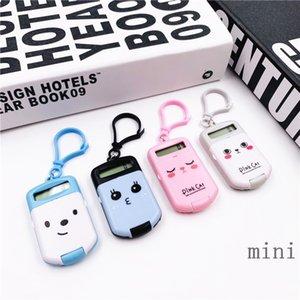 Digit Portable Calculator Kawaii Mini calculatrice de poche Taille 8 affichage Cartoon mignon Keychain créatif calculatrice Fournitures de bureau