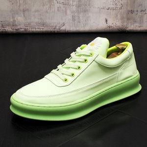 2020 New product autumn Men's Casual Shoes Comfortable embroidery Men Fashion Shoes Sneakers for Men students white board shoes 166
