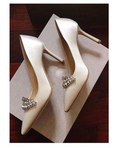 Günstigstes weißes Silk Satin-Hochzeits-Schuh-Brautschuh-Abschlussball-Partei-Pumpenfersen 6cm 8cm 10cm Größe 33-40 geben Verschiffen frei