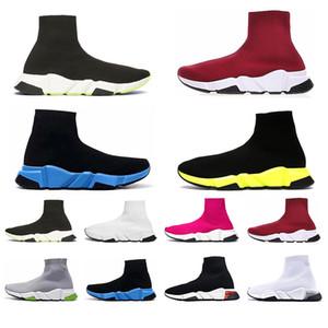 Balencaiga Siyah Beyaz Yeşil Pinks Gri kadınlar iskarpin yukarı dantel ile Athletic 2020 Erkek Hız Traniers Temizle Sole ağırlık Çorap Ayakkabı