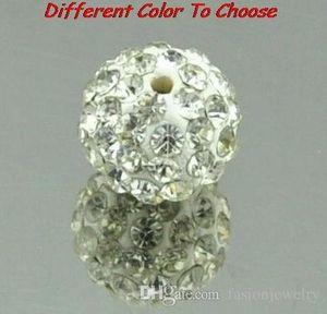 150 adet / grup 10mm karışık beyaz renk Mikro Açacağı CZ Disco Kristal kristal Boncuk Bilezik Kolye Boncuk. Sıcak boncuk Lot! Rhinestone DIY spacer