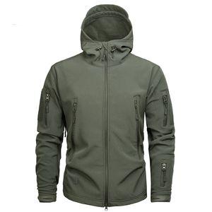 Jaqueta e Casaco de Camuflagem Do Exército dos homens Tático Jaqueta de Inverno Casacos de Shell Macio Impermeável Blusão Caça Roupas