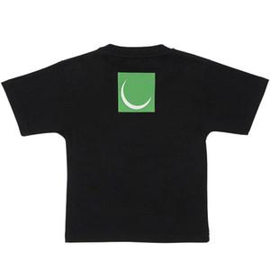 T Shirt Criança algodão de manga curta Tops Neck Rodada de alta qualidade T Shirt Boy Baby Girl Verão Tops T Shirt