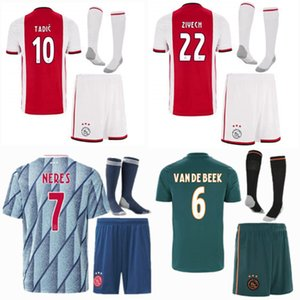 2019 2020 2021 AFC اياكس أطفال كرة القدم الفانيلة يحدد رياضية تاديتش ZIYECH NERES VAN DE BEEK 19 20 21 قميص كرة القدم + شورت الفتيان