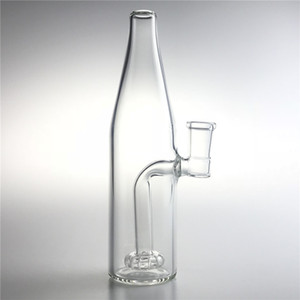 Nuevos tubos medianos de agua de Bong de vidrio de 7.5 pulgadas con 14 mm de cabeza gruesa de vidrio embriagador dab aparejos de cerveza botella reciclador Bongs para fumar
